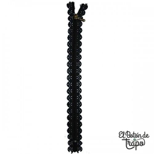 Cremallera Troquelada 22cm Negra