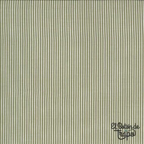 Tela Folktale Skinny Stripes Olive