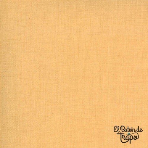 Tela amarillo ocre de algodón con textura de lino de French General