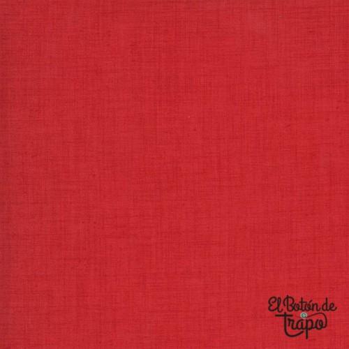 Tela Jardin De Fleurs Rouge Linen...