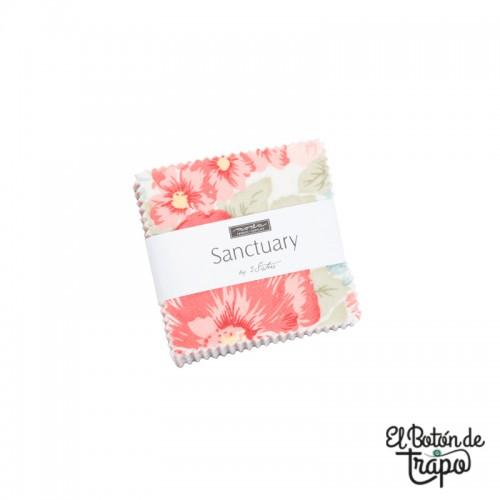 Mini charm pack de la colección Sanctuary de 3 Sisters para Moda Fabrics