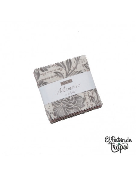 Mini charm pack de la colección Memoirs de 3 Sisters para Moda Fabrics
