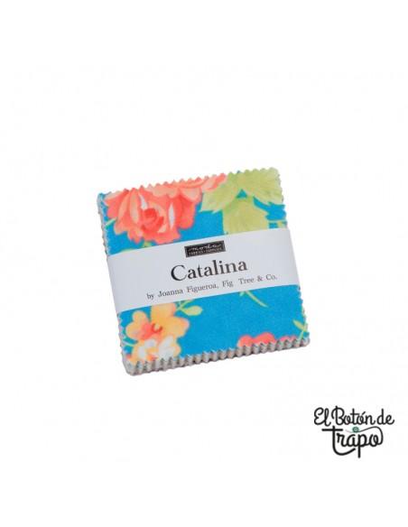 Mini charm pack de la colección Catalina de Joanna Figueroa para Moda Fabrics