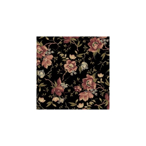 Tela Country French Flores Negro 35cm