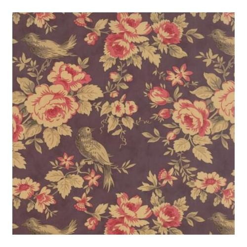 Tela Mille Couleurs Serenata Floral Mora