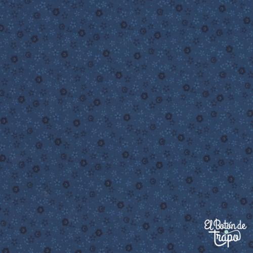 Tela Quilters Basic Flores Azul