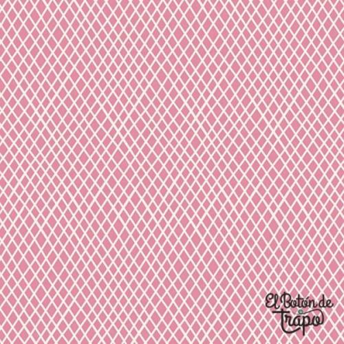 Tela Tilda Crisscross Pink