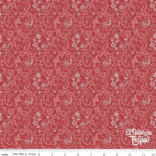 Tela Beaujolais Floral Red