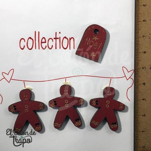 Pack 4 Botones Galletas Navidad