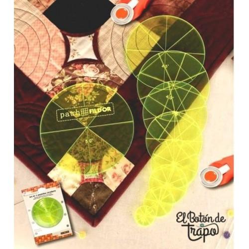 Plantillas Patchwork Circulares Set de 9
