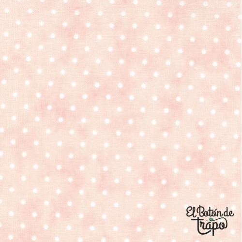 Tela Essential Dots Rosa Baby