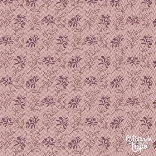 Tela Bed of Roses Lilac Sage