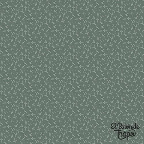 Tela Tealicious Tea Leaf Texture Blue