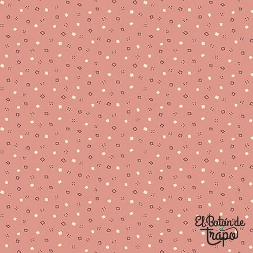 Tela Tealicious Spots and Squares Rose