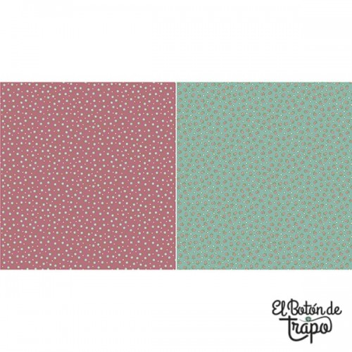 Tela Willowbrook Floral Teal/Dark Pink
