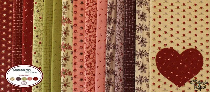 Telas Contemporary Classics Ellie´s Quiltplace y EQP Textiles